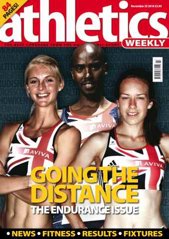 Athletics Weekly issue AW Nov 25 2010