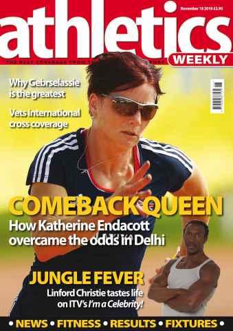 Athletics Weekly issue AW Nov 18 2010