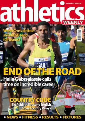 Athletics Weekly issue AW Nov 11 2010