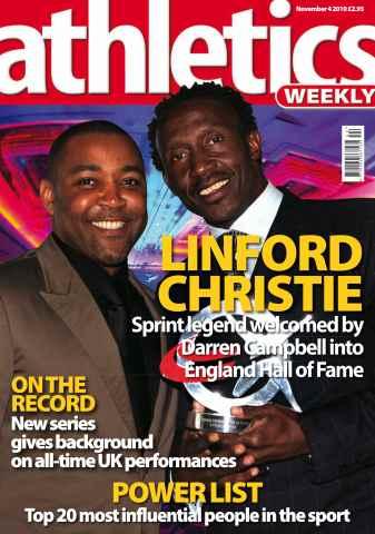 Athletics Weekly issue AW Nov 4 2010