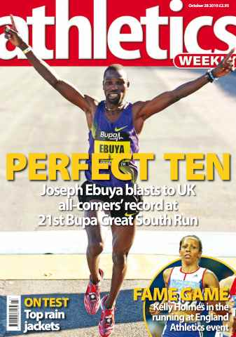 Athletics Weekly issue AW October 28 2010
