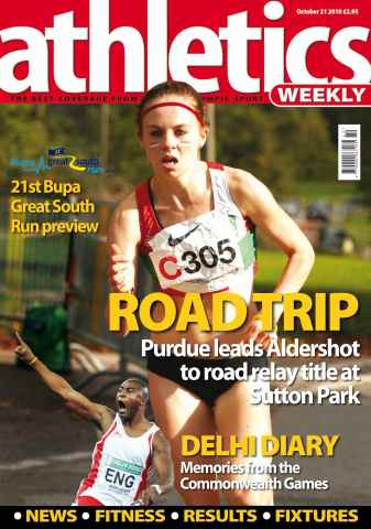 Athletics Weekly issue AW October 21 2010