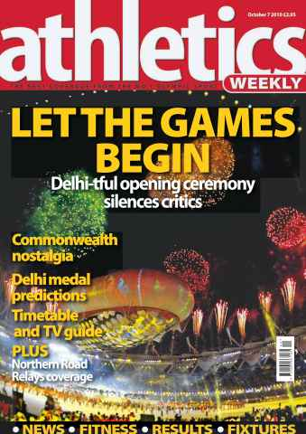 Athletics Weekly issue AW October 7 2010