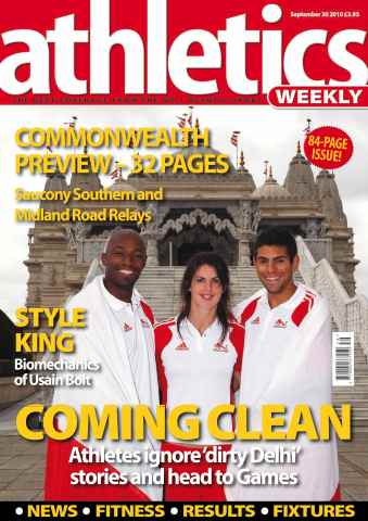 Athletics Weekly issue AW Sept 30 2010
