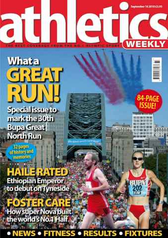 Athletics Weekly issue AW September 16 2010