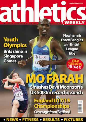 Athletics Weekly issue AW August 26 2010