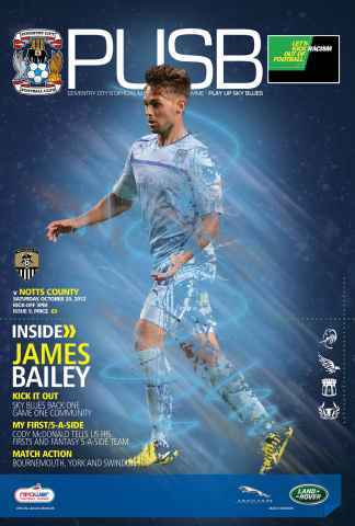 CCFC Official Programmes issue 09 v NOTTS COUNTY (12-13)