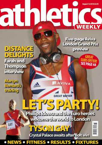 Athletics Weekly issue AW August 12 2010