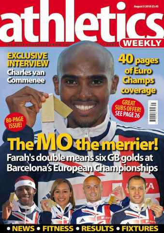 Athletics Weekly issue AW August 5 2010