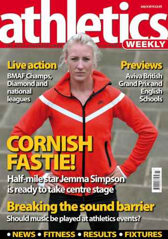 Athletics Weekly issue AW July 8 2010