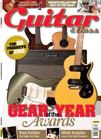 Guitar & Bass Magazine issue December 2012 Gear Year Awards