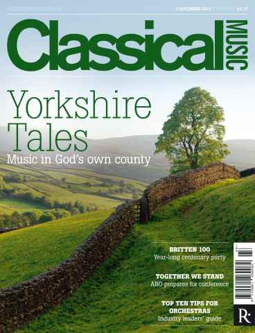 Classical Music issue 3rd November 2012