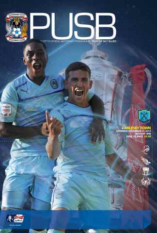 CCFC Official Programmes issue 10 v ARLESEY TOWN (12-13)