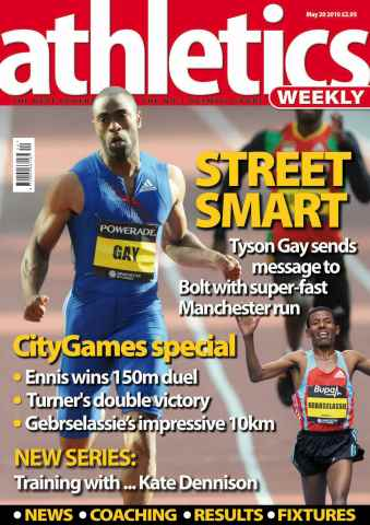 Athletics Weekly issue AW May 20 2010