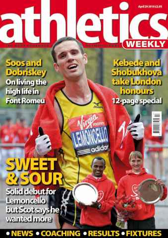 Athletics Weekly issue AW April 29 2010