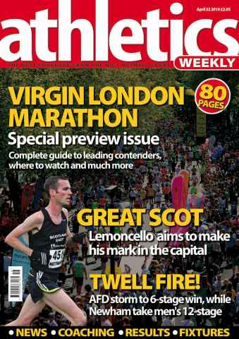 Athletics Weekly issue AW April 22 2010