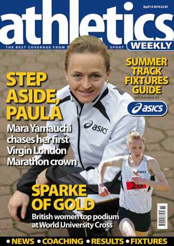 Athletics Weekly issue AW April 15 2010