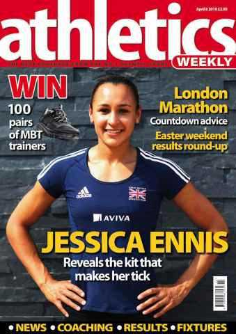 Athletics Weekly issue AW April 8 2010