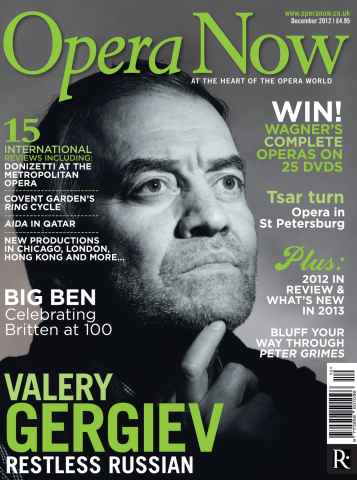 Opera Now issue December 2012