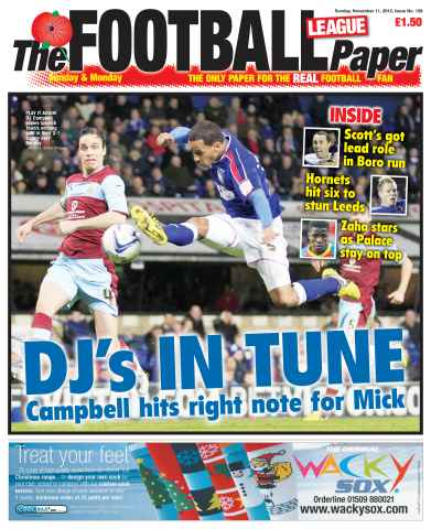 The Football League Paper issue 11th November 2012