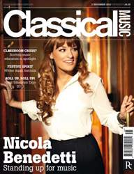 Classical Music issue 17th November 2012