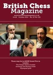 British Chess Magazine issue October 2012