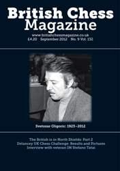 British Chess Magazine issue September 2012