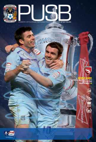 CCFC Official Programmes issue 14 v MORECAMBE (12-13)