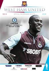 West Ham Utd Official Programmes issue WEST HAM UNITED V CHELSEA FC