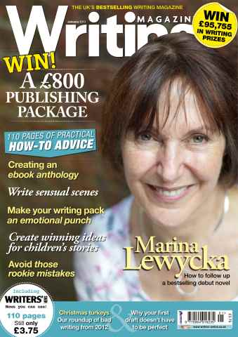Writing Magazine issue Writing Magazine January 2013