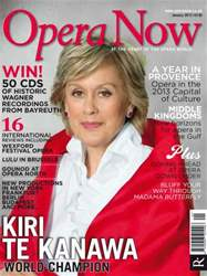 Opera Now issue January 2013