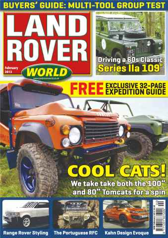 Landrover World issue Tomcat test
