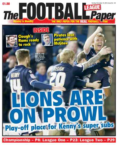 The Football League Paper issue 16th December 2012