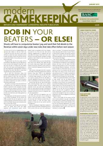 Modern Gamekeeping issue JANUARY 2013