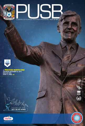 CCFC Official Programmes issue 17 v PRESTON NORTH END (12-13)