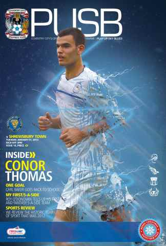 CCFC Official Programmes issue 18 v SHREWSBURY TOWN (12-13)