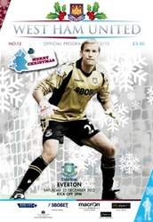 West Ham Utd Official Programmes issue WEST HAM UNITED V EVERTON