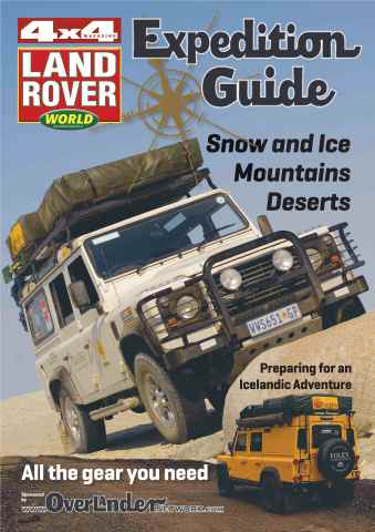 Landrover World issue The 2013 Expedition Guide.