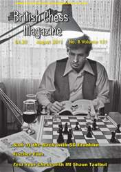 British Chess Magazine issue August 2011