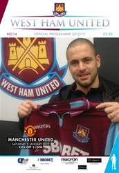 West Ham Utd Official Programmes issue WEST HAM UTD V MANCHESTER UTD