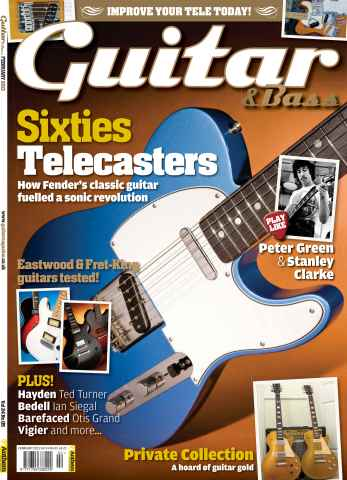 Guitar & Bass Magazine issue February 13 Sixties Telecasters
