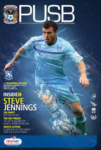 CCFC Official Programmes issue 20 v TRANMERE ROVERS (12-13)