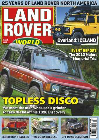 Landrover World issue Convertible Disco
