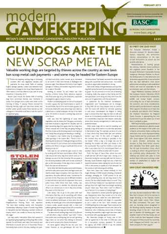 Modern Gamekeeping issue FEBRUARY 2013