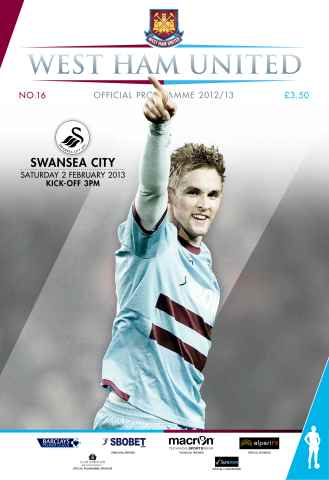 West Ham Utd Official Programmes issue WEST HAM UNITED V SWANSEA CITY
