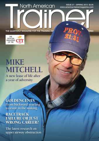 North American Trainer Magazine - horse racing issue Spring 2013 – Issue 27