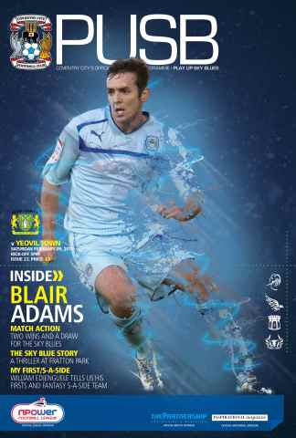 CCFC Official Programmes issue 23 v YEOVIL TOWN (12-13)