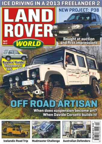 Landrover World issue Ice driving