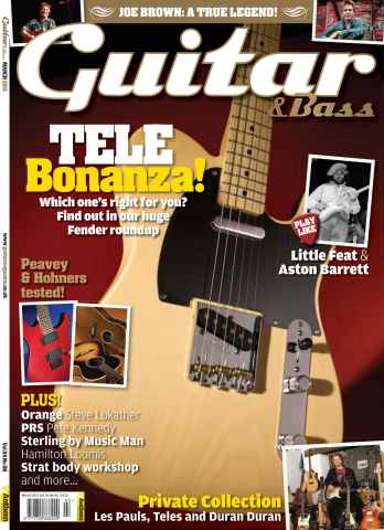Guitar & Bass Magazine issue March 2013 Tele Bonanza