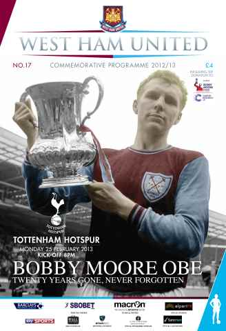 West Ham Utd Official Programmes issue WEST HAM UNITED V TOTTENHAM